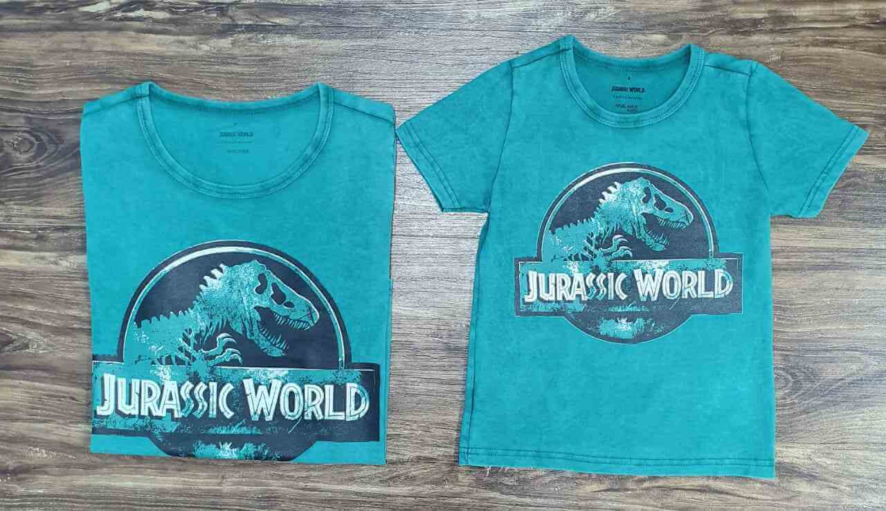 Camisetas Jurassic World Pai e Filho