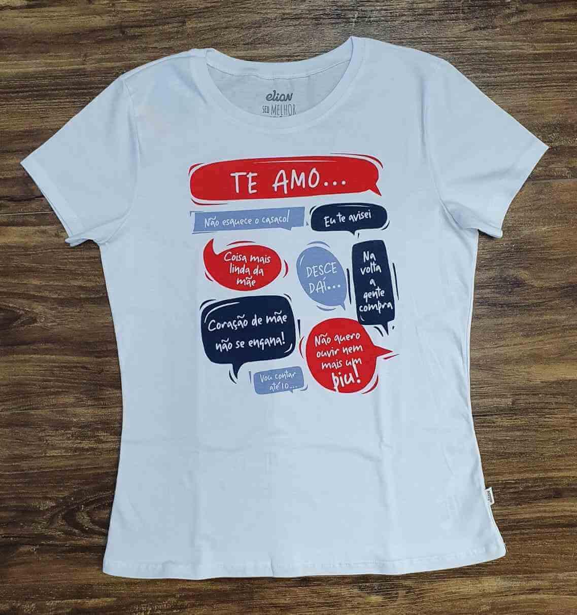 Camisetas Te Amo Mãe e Filho(a)