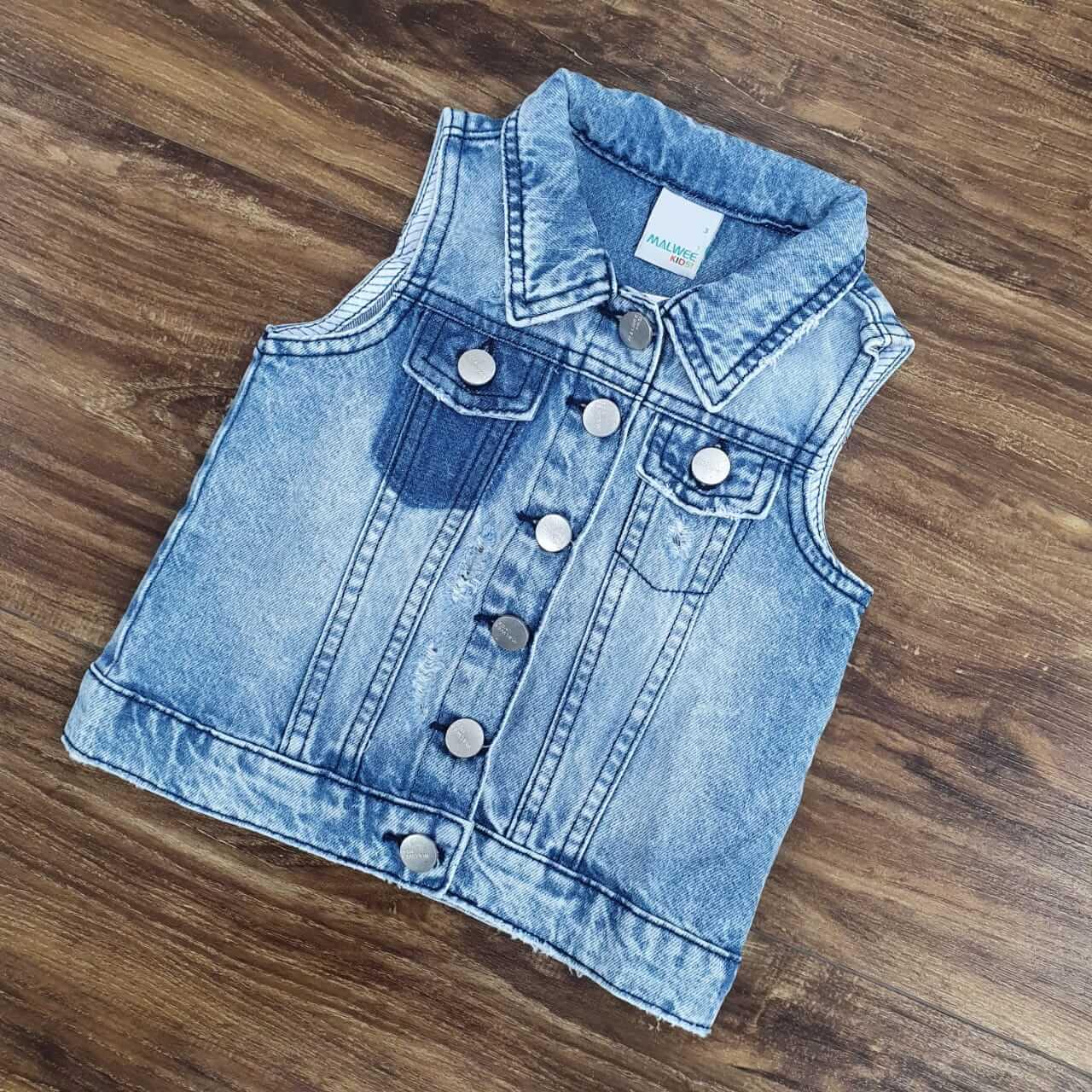 Colete Jeans Feminino Infantil