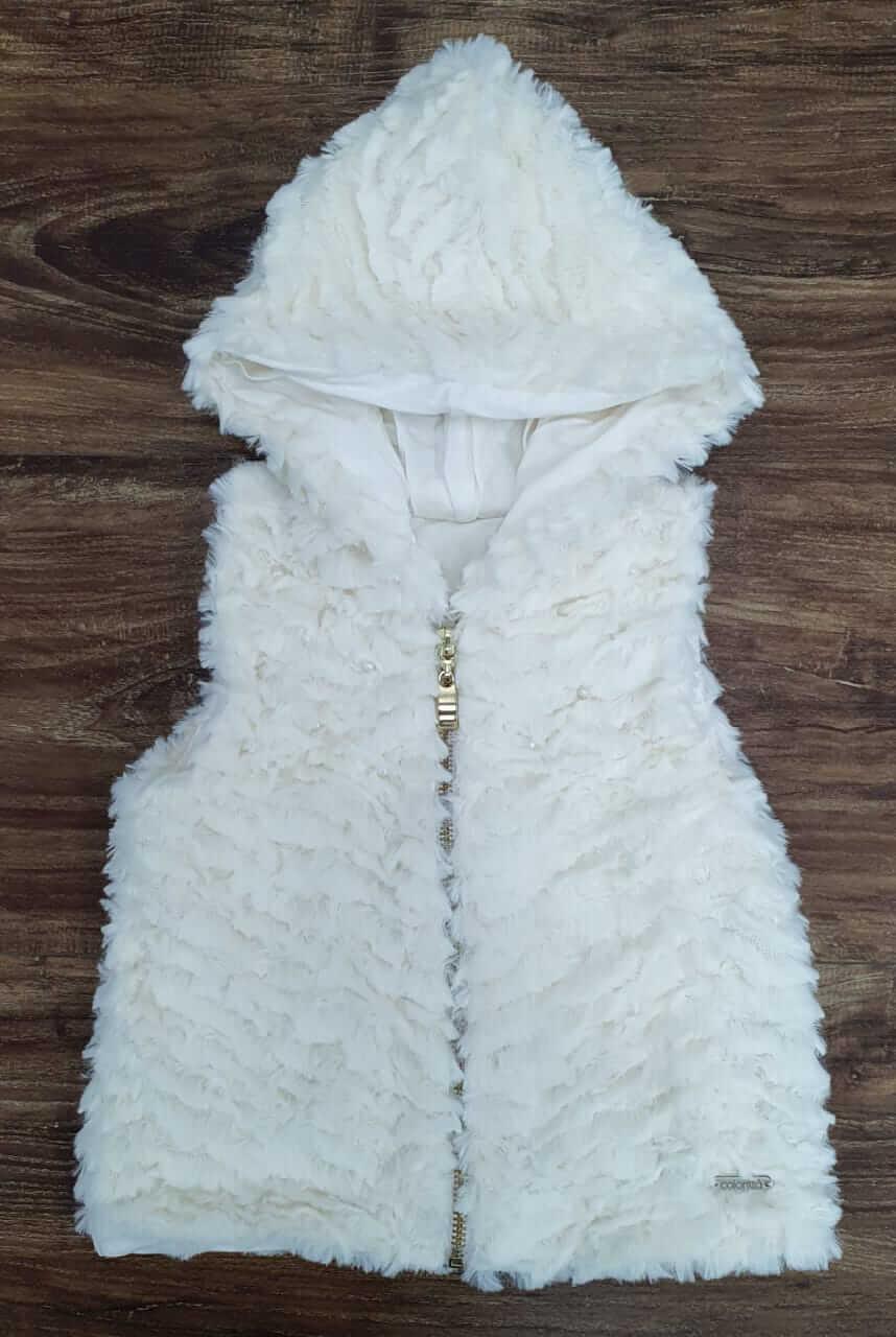 Colete Peludo Branco
