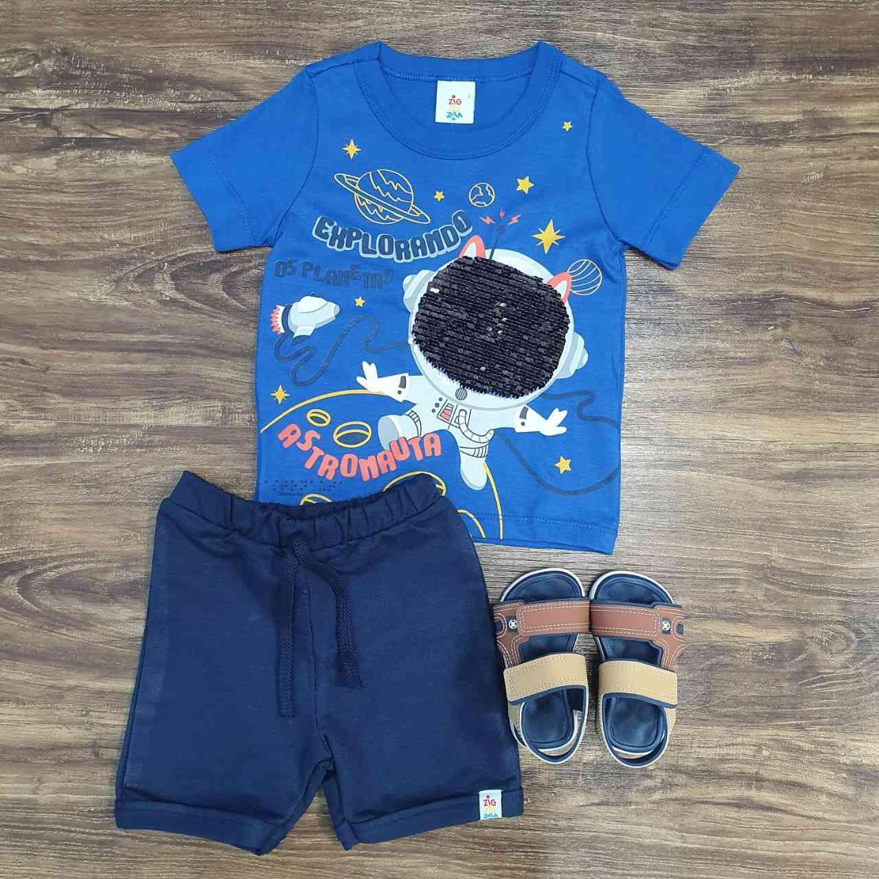 Conjunto Astronauta Paetê Infantil