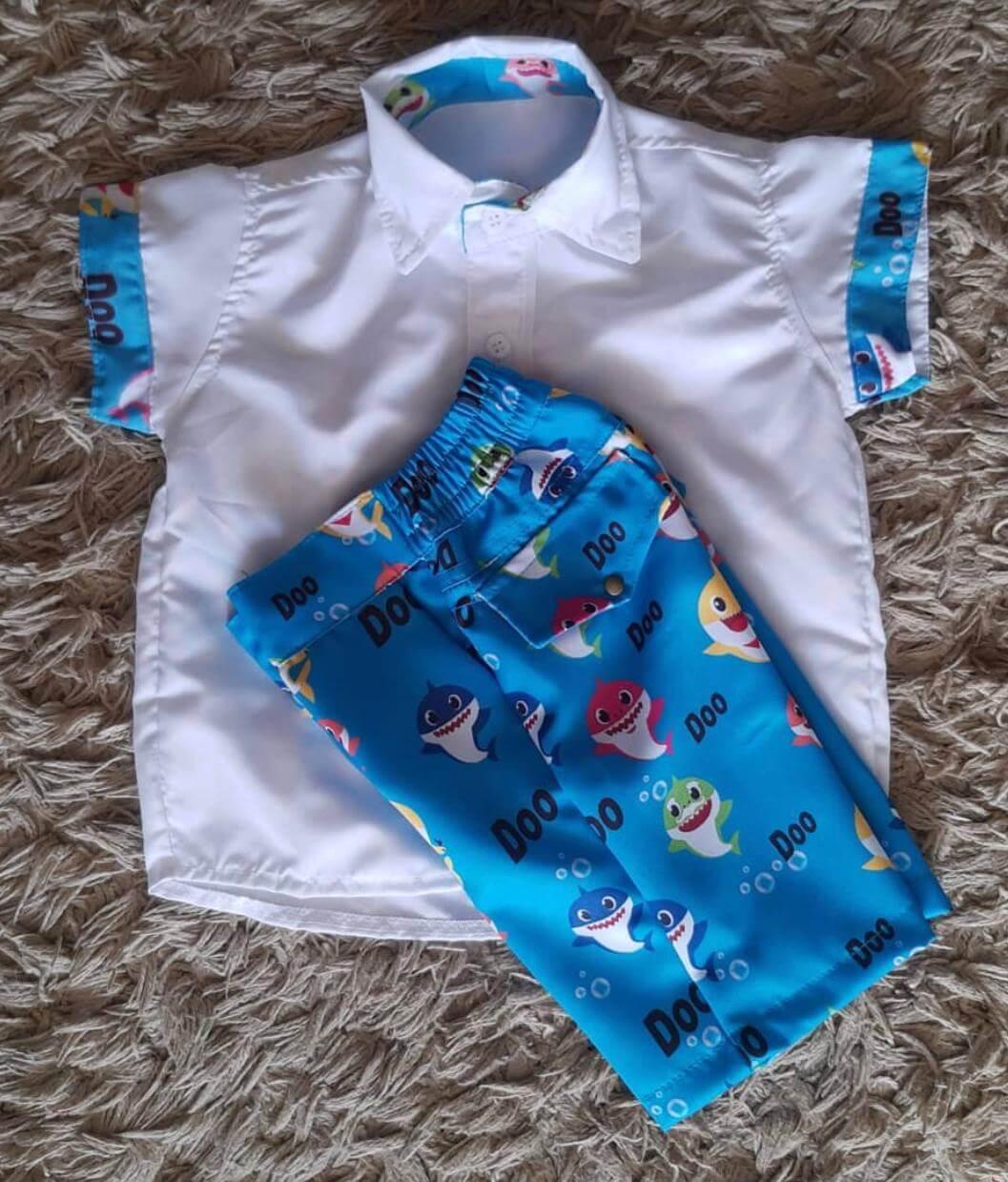 Conjunto Baby Shark Infantil