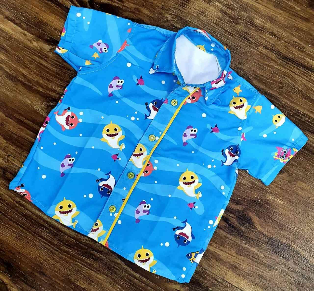 Conjunto Baby Shark Amarelo Infantil