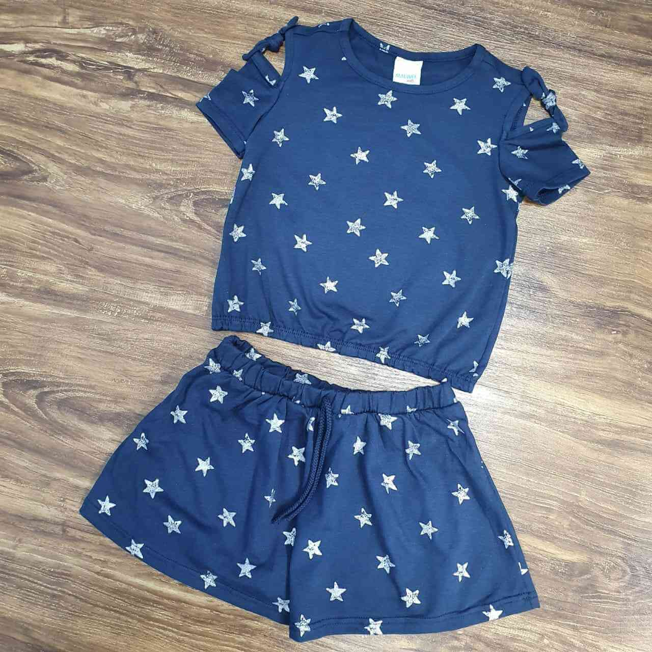 Conjunto Blusa e Saia Shorts Infantil