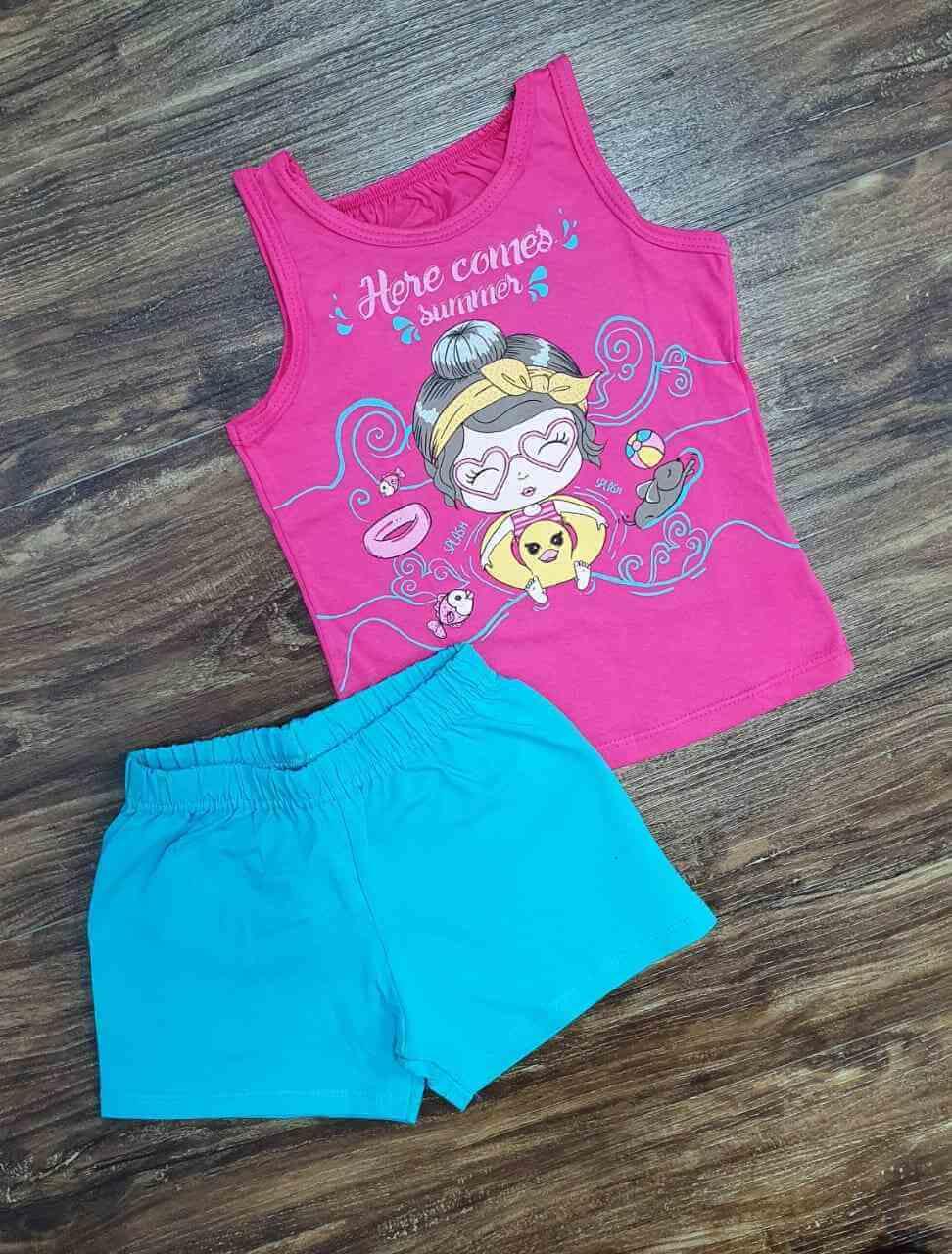 Conjunto Blusinha com Shorts Infantil