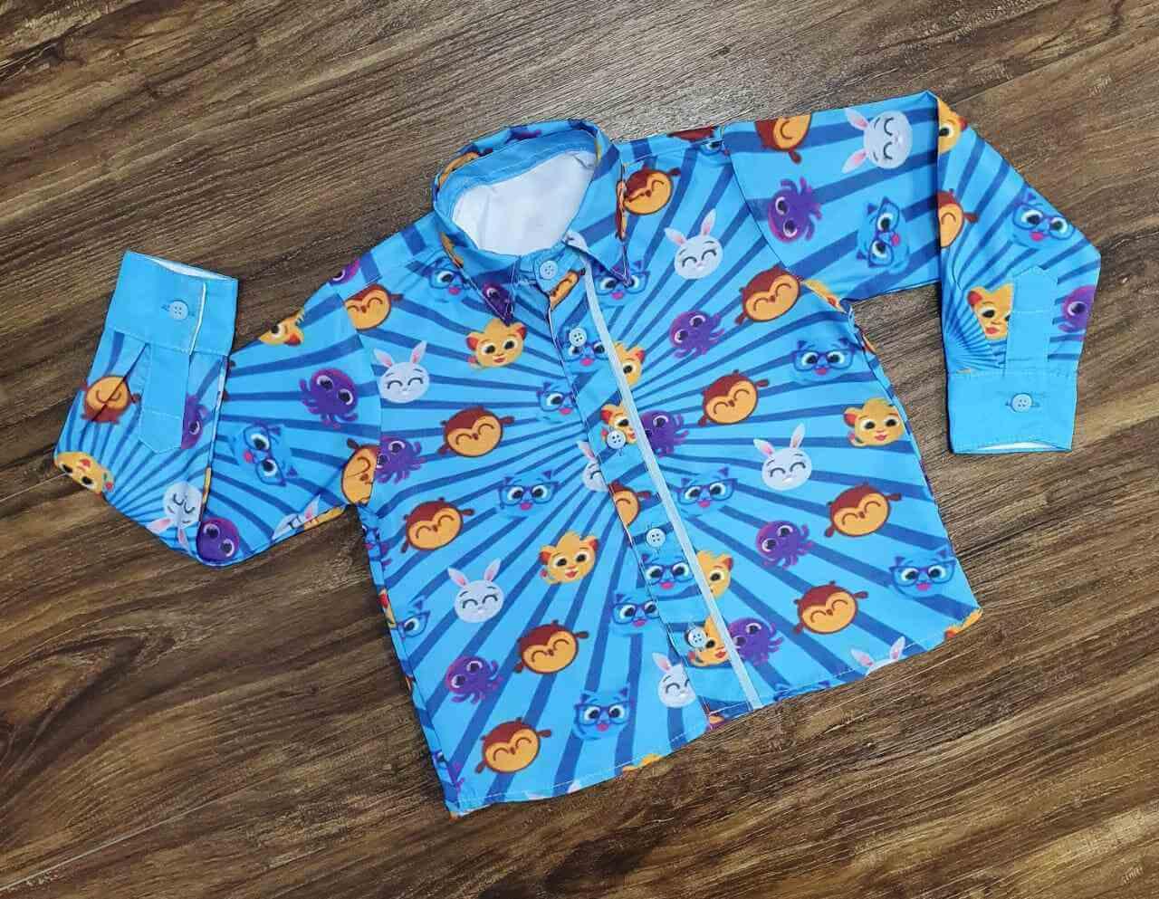 Conjunto Bolofofos Com Calça Azul Marinho Infantil