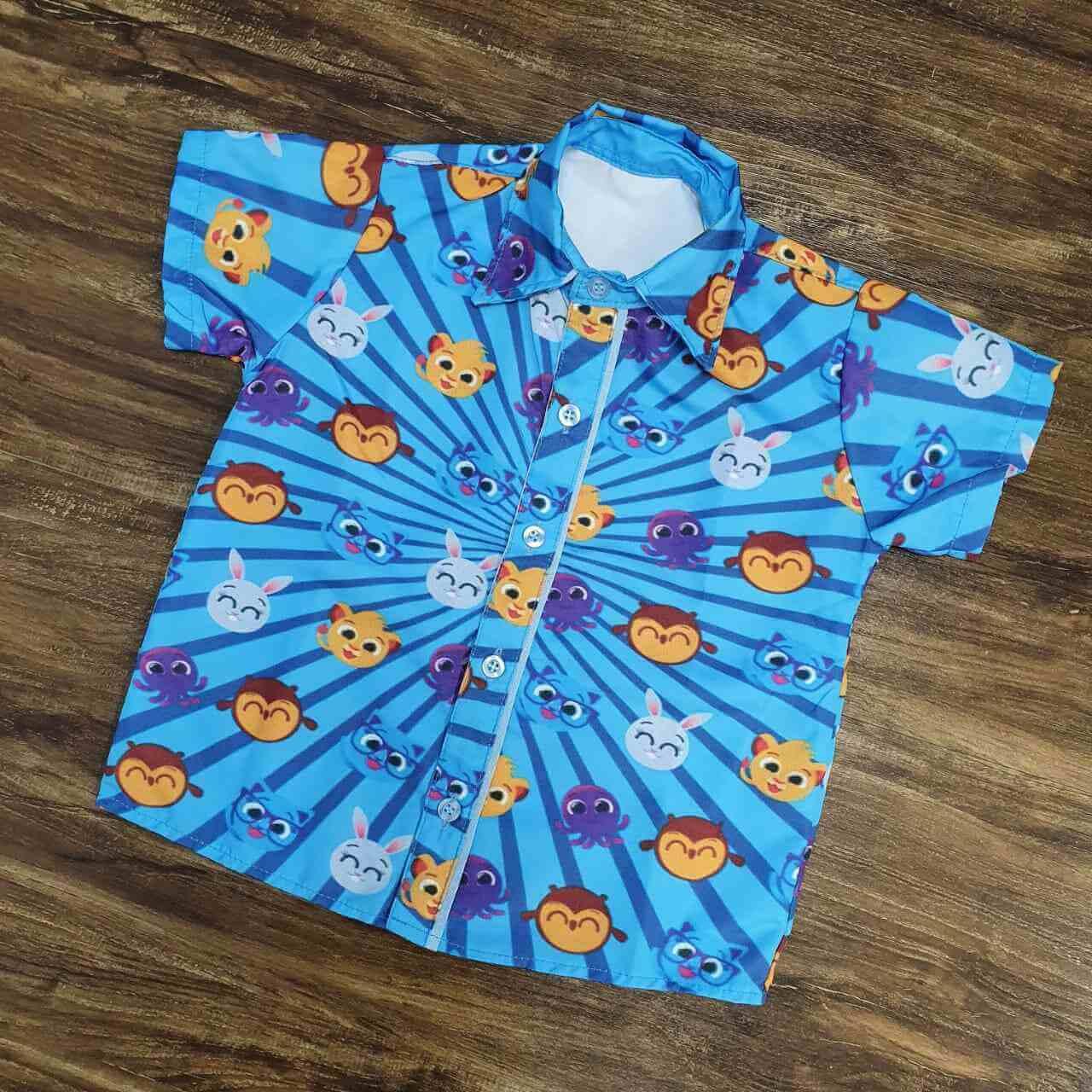 Conjunto Calça Bolofofos Azul Infantil