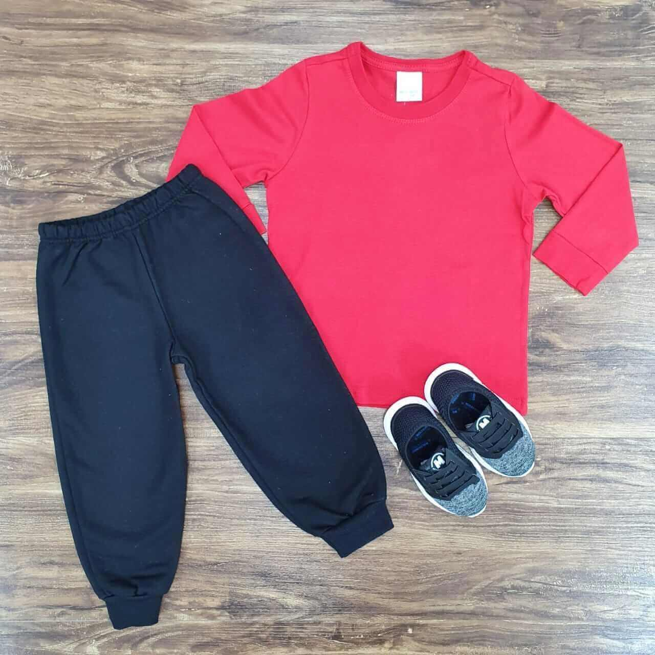 Conjunto Calça de Moletom e Camiseta Infantil