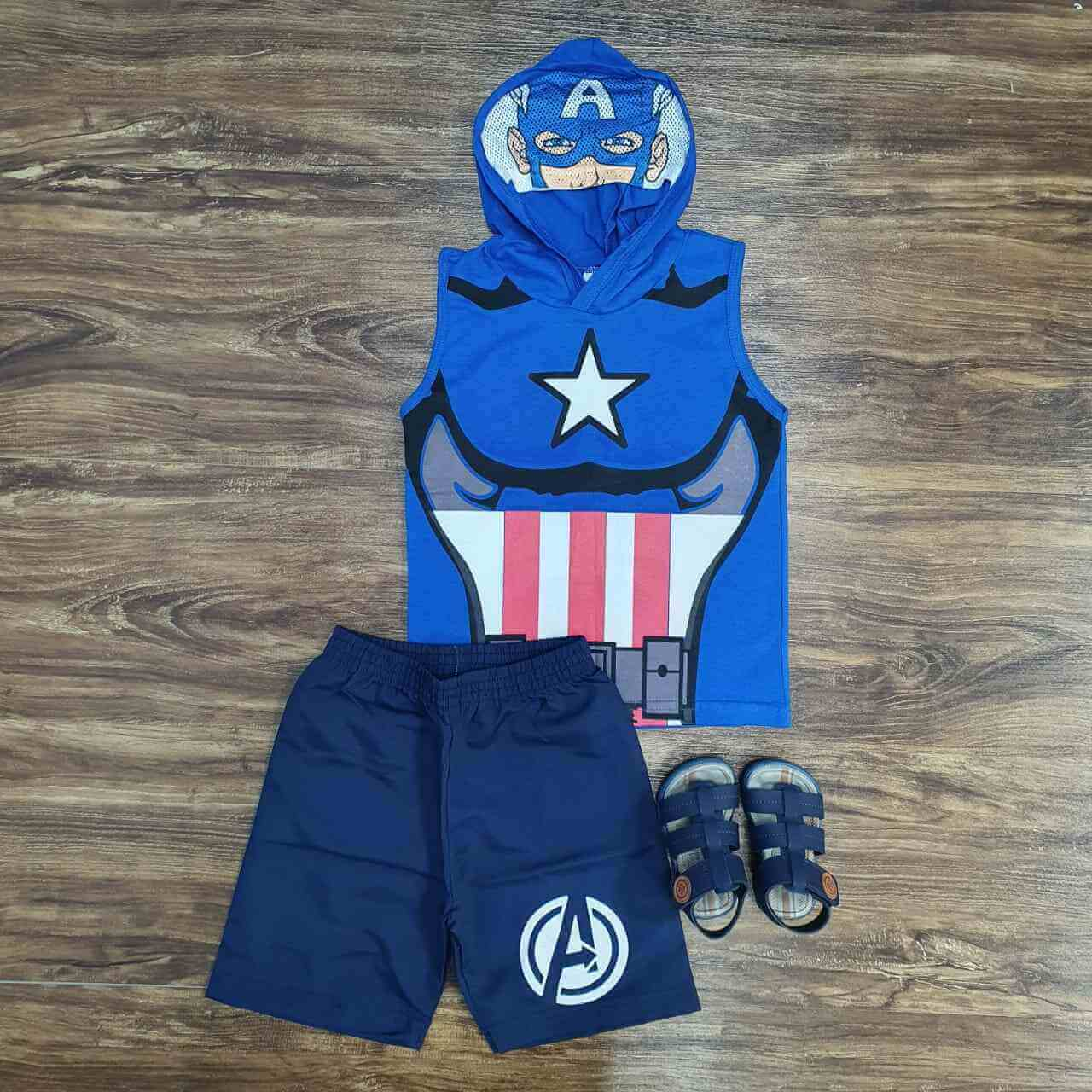 Conjunto Capitão America Infantil