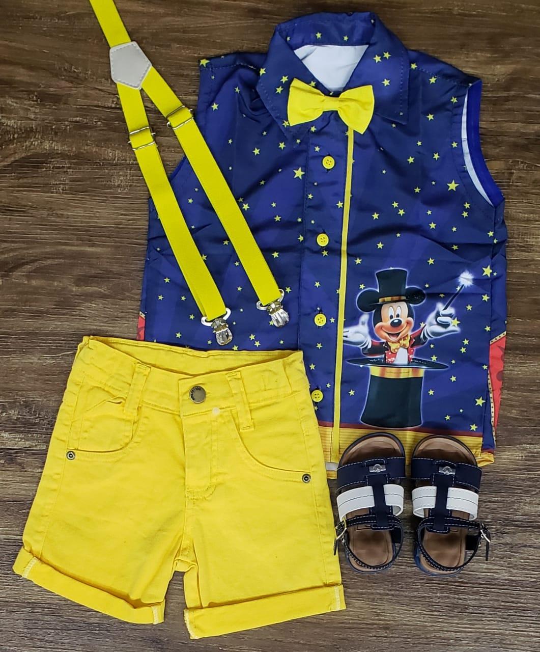 Conjunto Amarelo Mickey Mágico Infantil