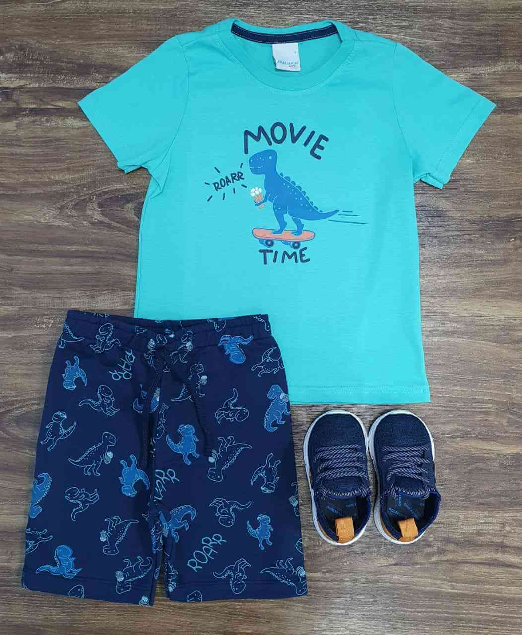 Conjunto Dinossauro Movie Time Infantil