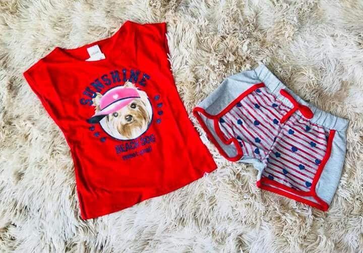 Conjunto Beach Dog Vermelho