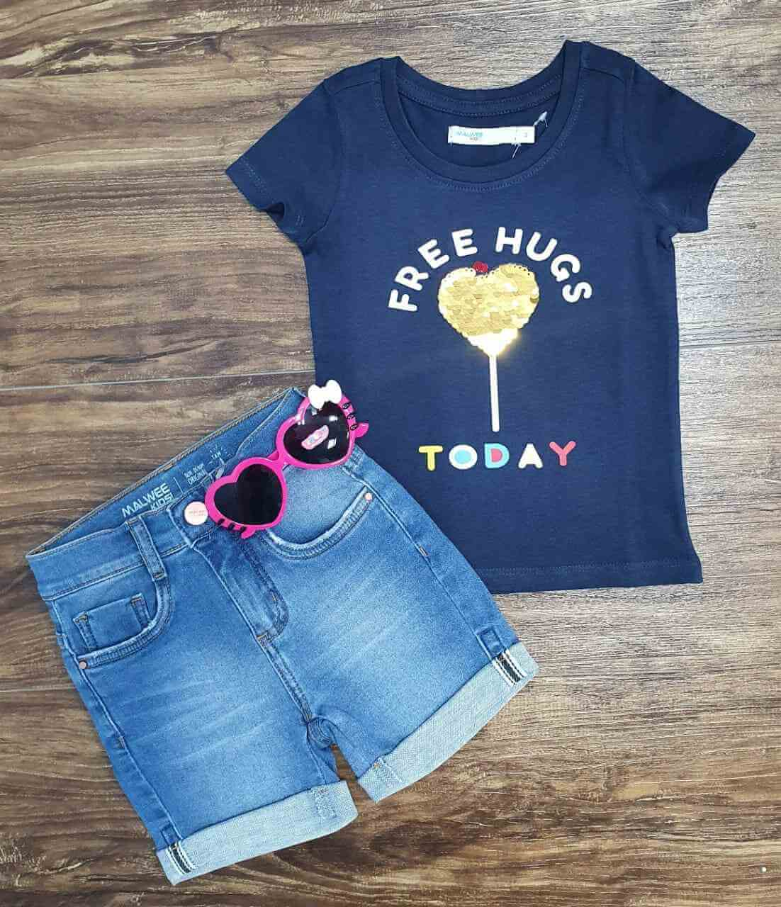 Conjunto Free Hugs Today Infantil