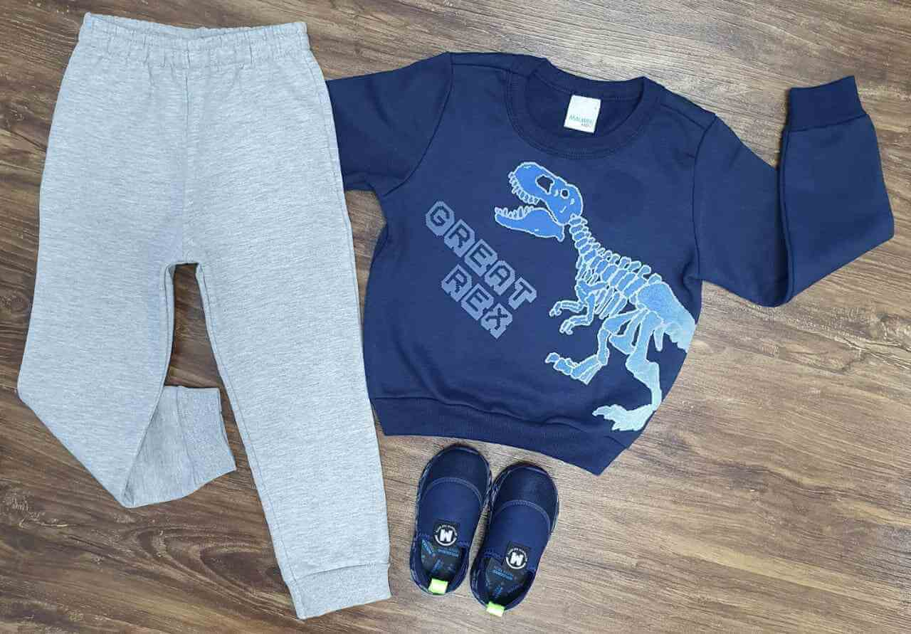 Conjunto Moletom Great Rex Infantil