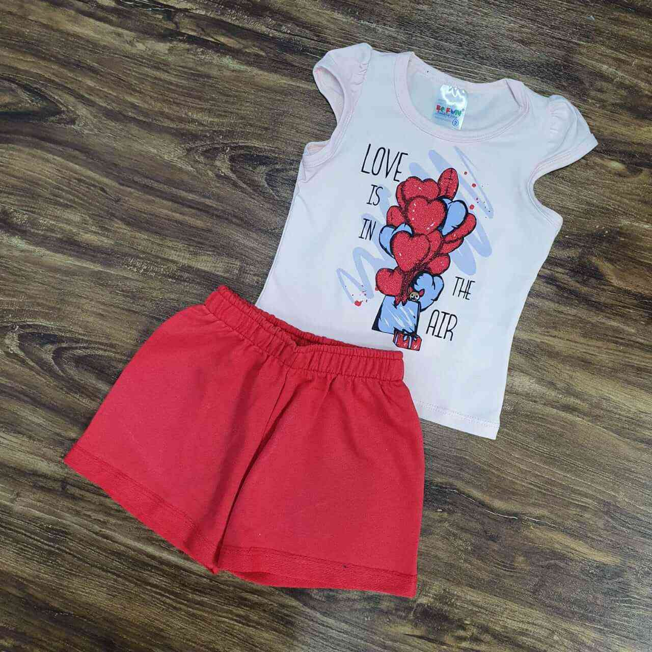 Conjunto Love Is In The Air Infantil