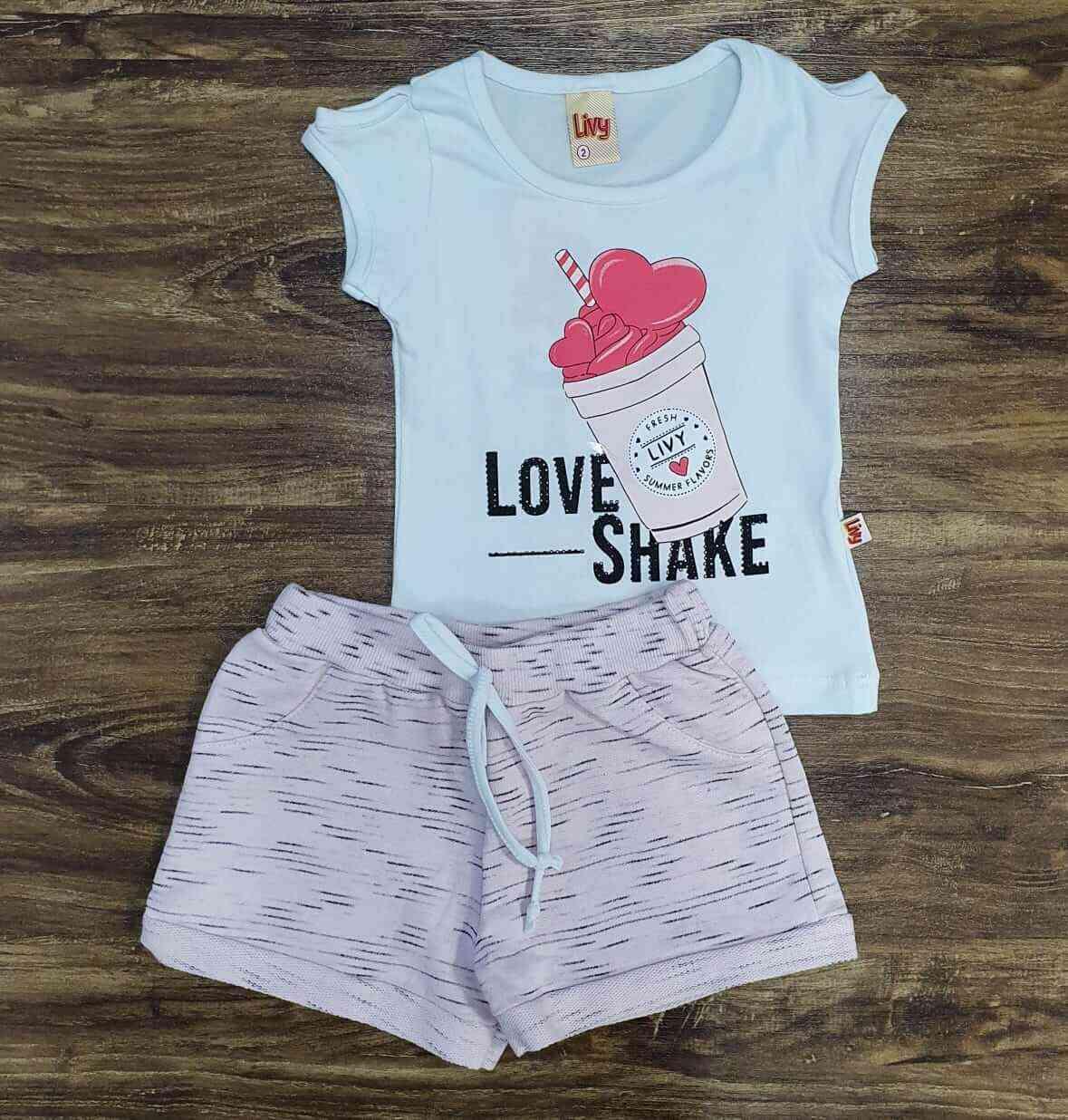 Conjunto Love Shake Infantil