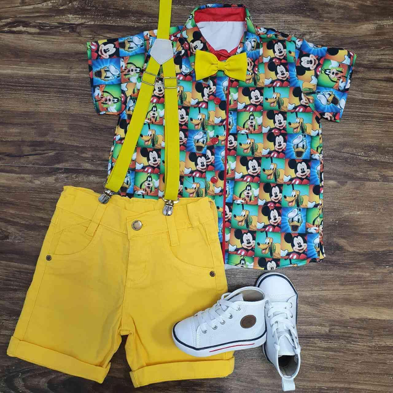 Conjunto Mickey Amarelo Infantil