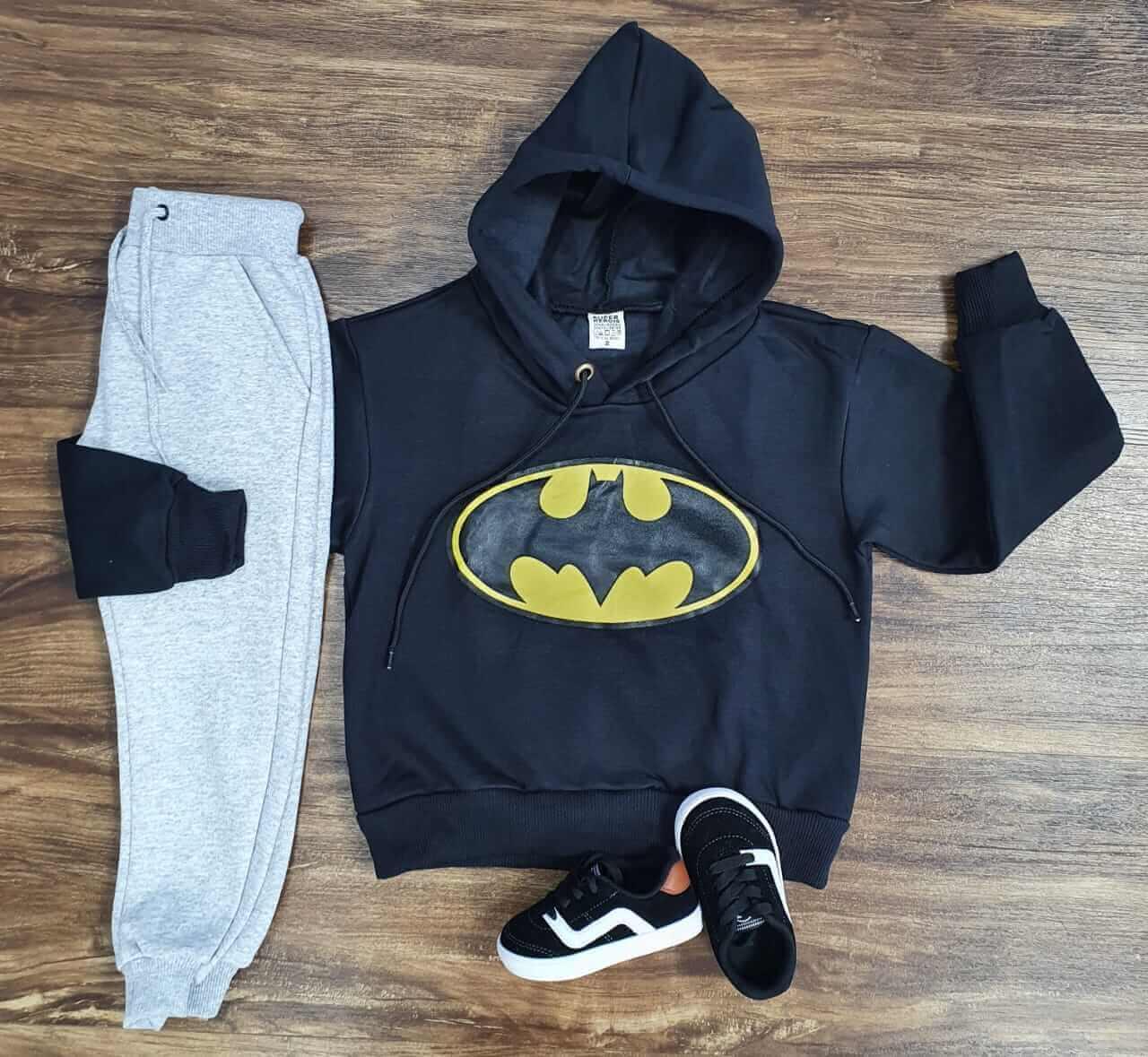 Conjunto Moletom Batman Infantil