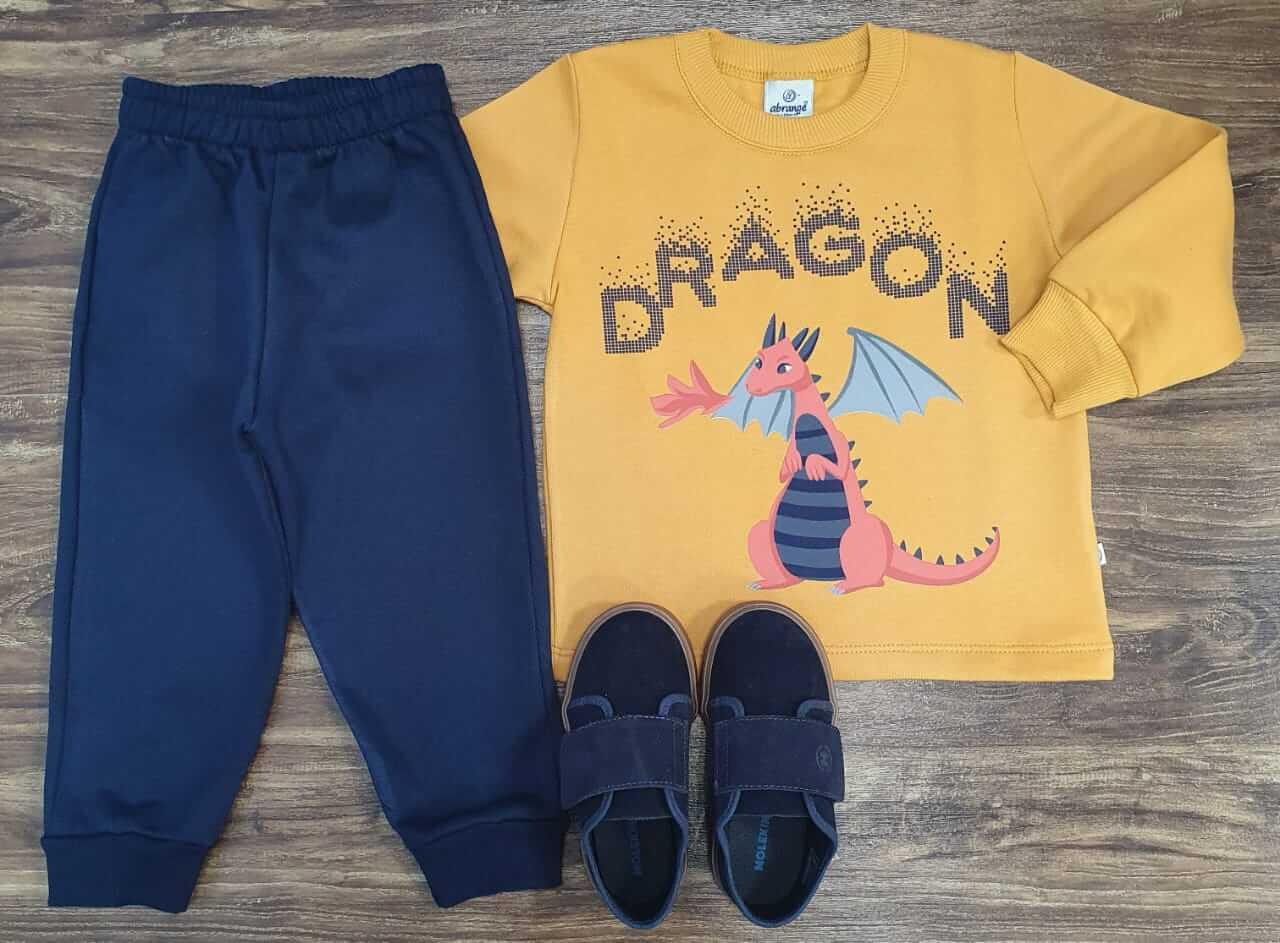 Conjunto Moletom Dragon Infantil