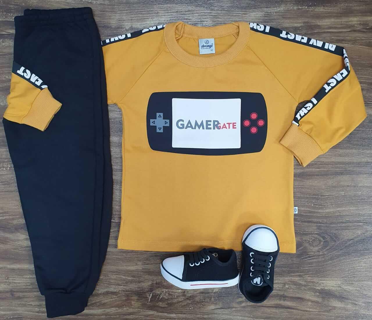Calça Moletom com Camiseta Game Gate Infantil