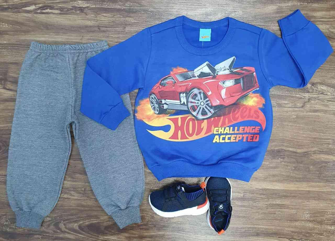 Conjunto Moletom Hot Wheels Infantil