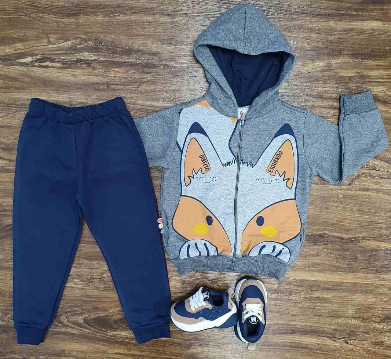 Conjunto Moletom Little Fox Infantil