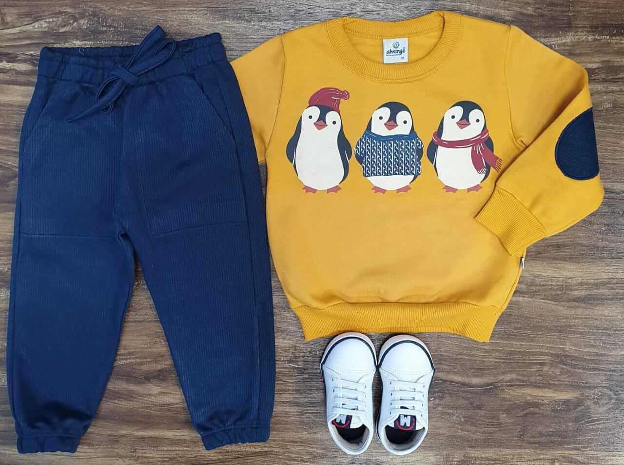 Conjunto Moletom Pinguim Infantil