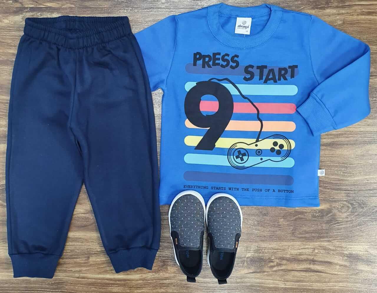 Conjunto Moletom Press Start Infantil