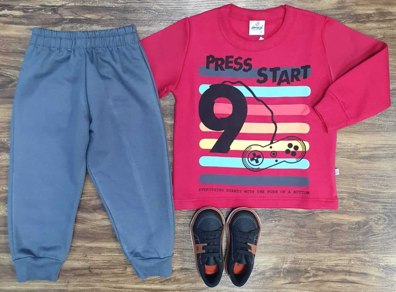 Conjunto Moletom Press Start Infantil