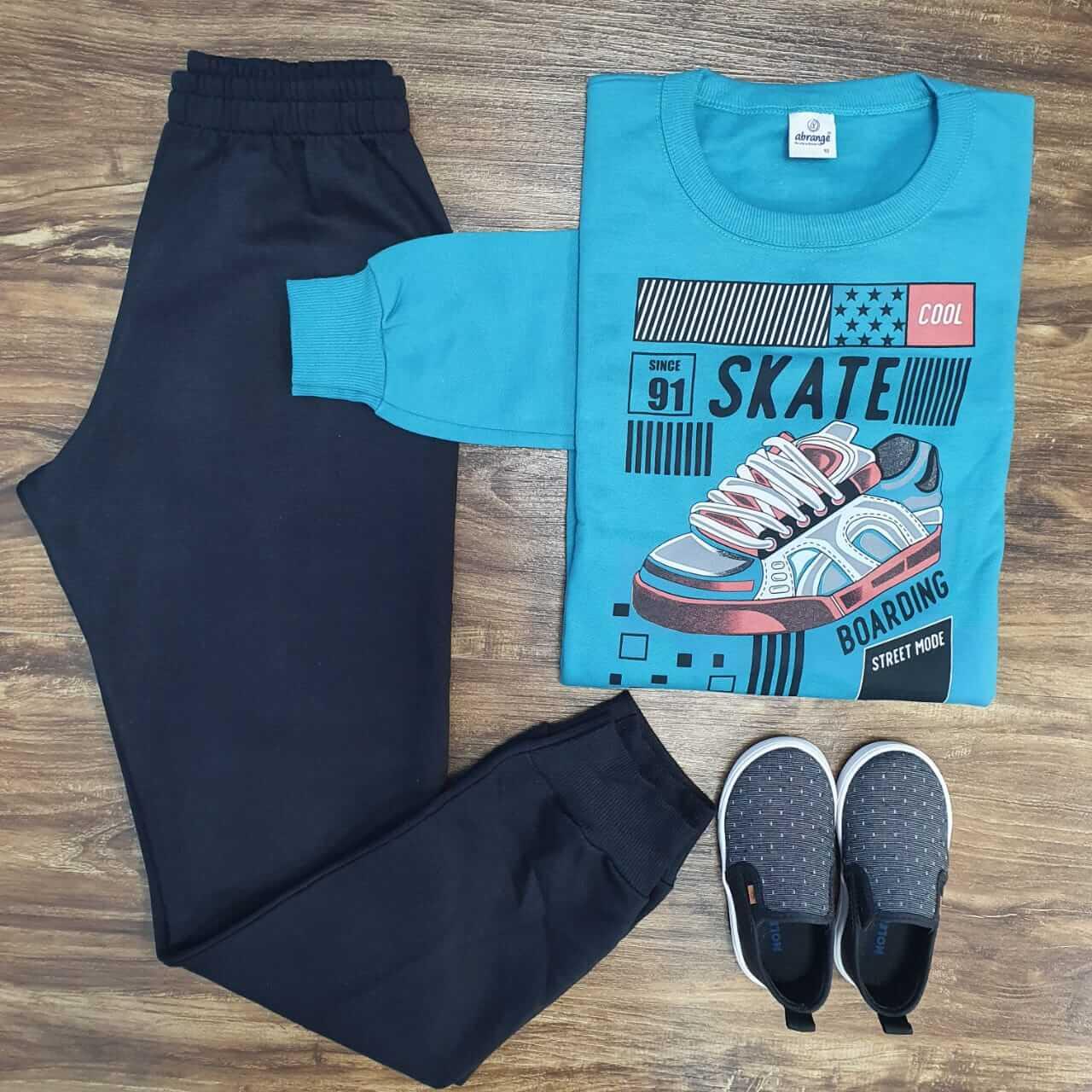 Conjunto Moletom Skate Board Infantil