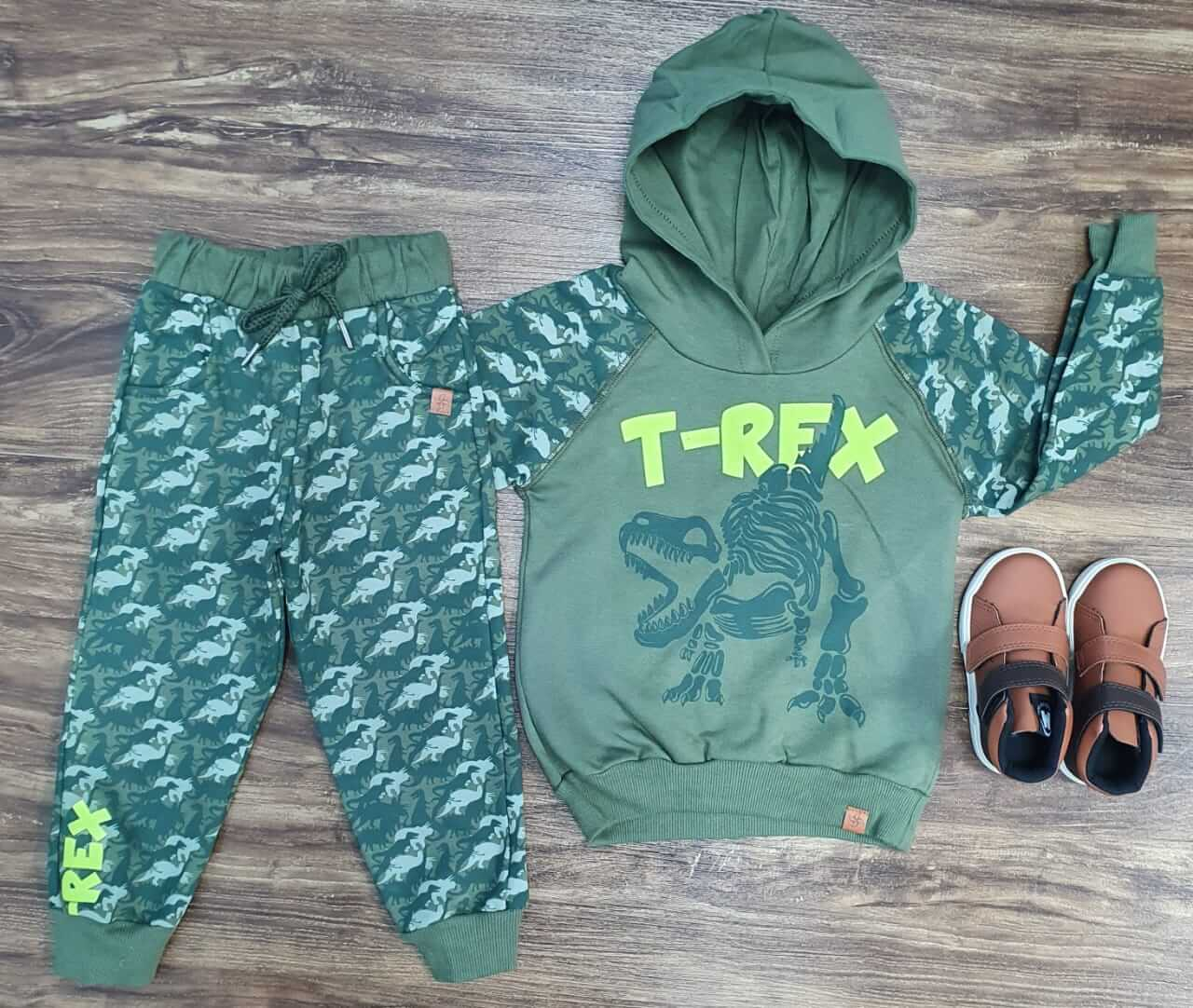 Conjunto Moletom T-Rex Infantil