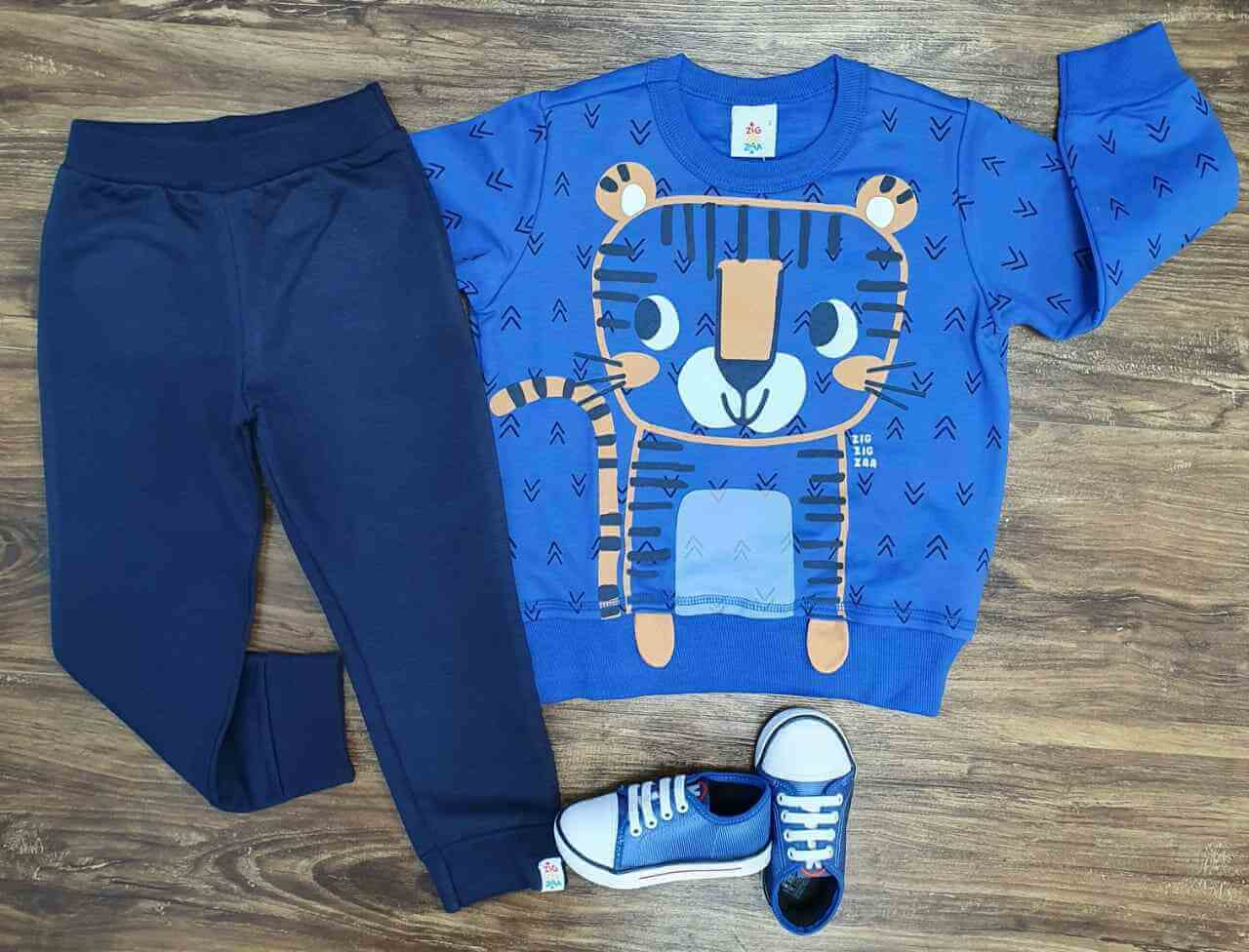 Conjunto Moletom Tiger Cub Azul Infantil
