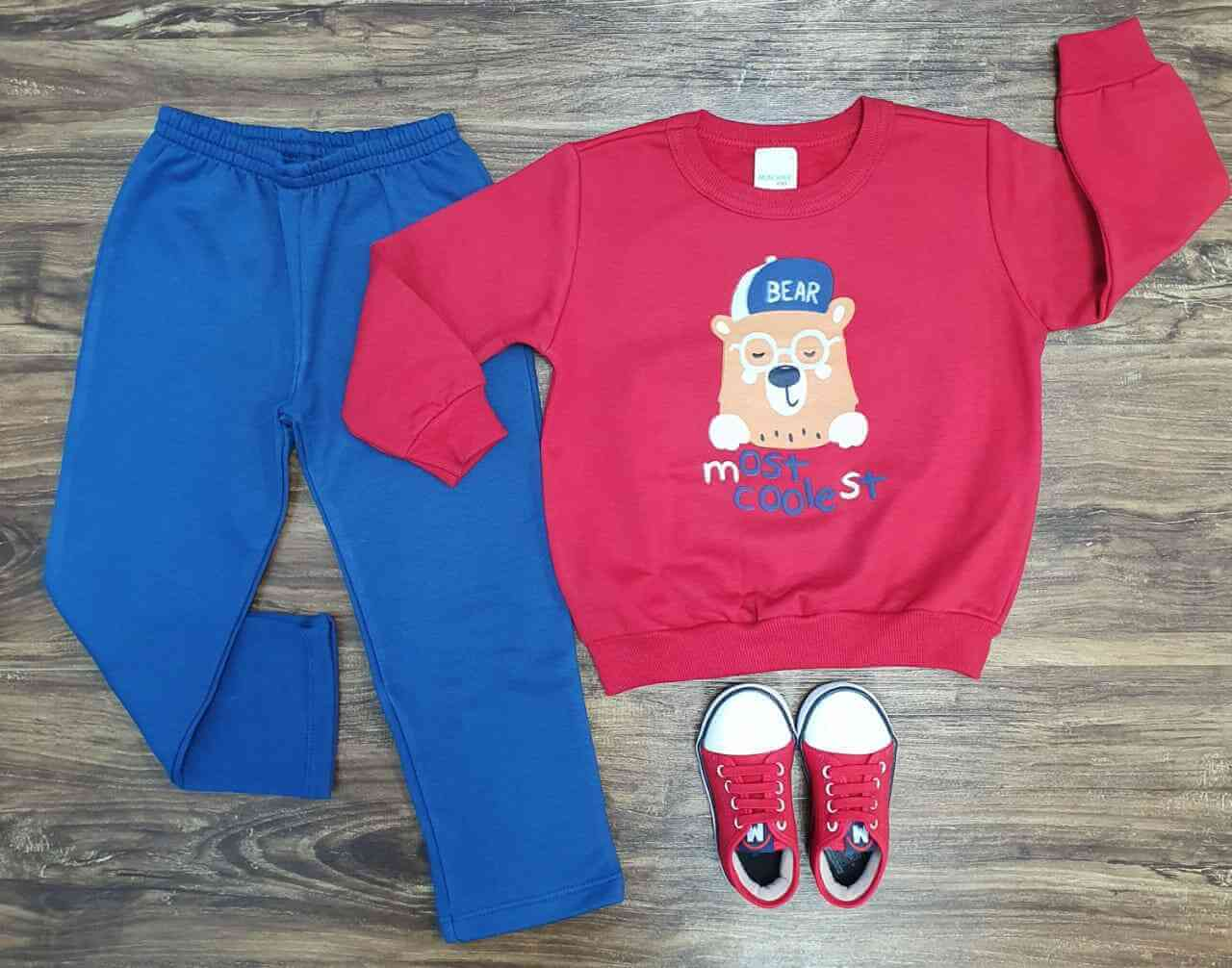 Conjunto Moletom Most Cooleste Infantil