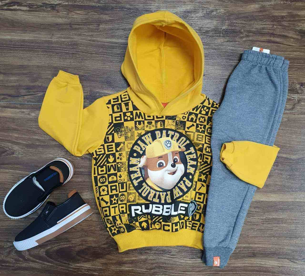 Conjunto Paw Patrol com Blusa Amarela Infantil