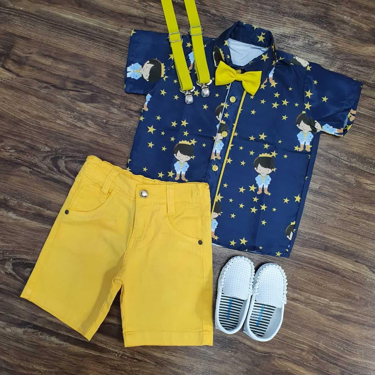 Conjunto Pequeno Príncipe Amarelo