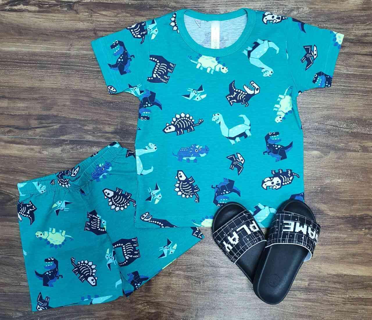 Conjunto Pijama Dino Infantil