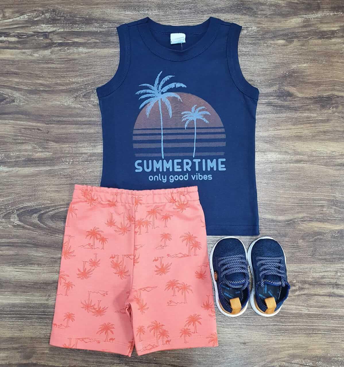 Conjunto Summer Time Laranja Infantil