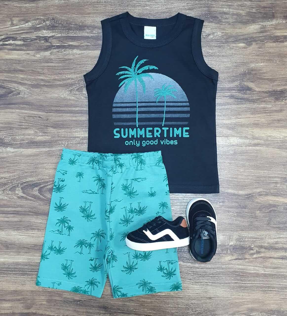 Conjunto Summer Time Verde Infantil