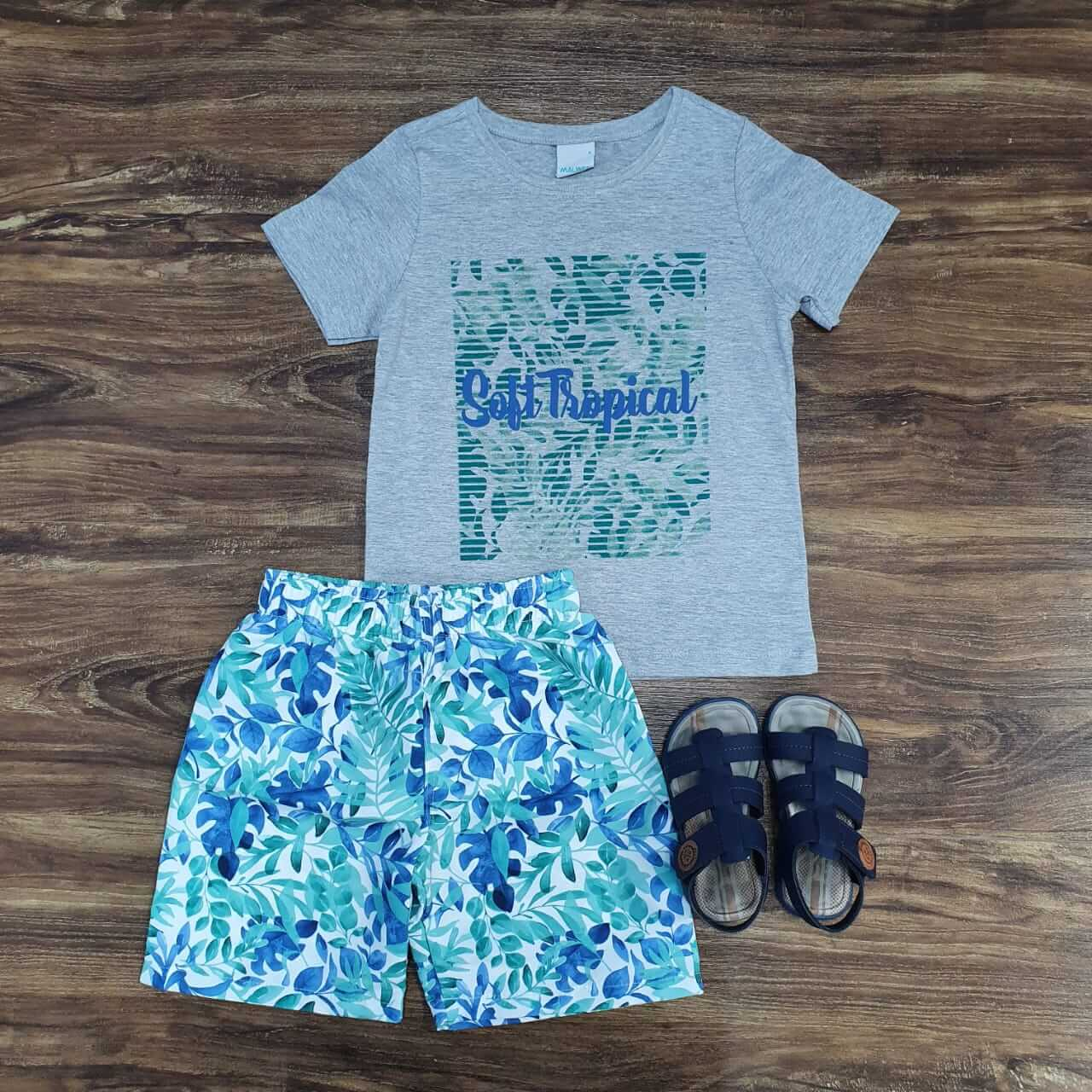 Conjunto Surf Tropical Infantil
