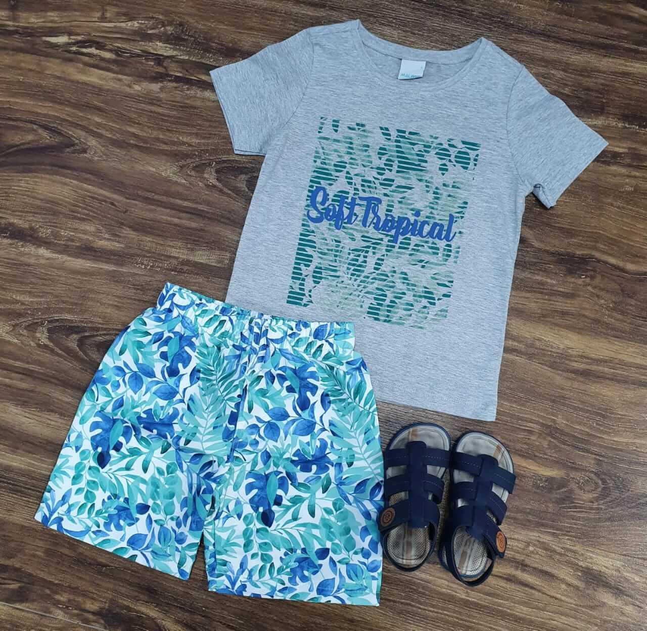 Conjunto Surf Tropical Infantil