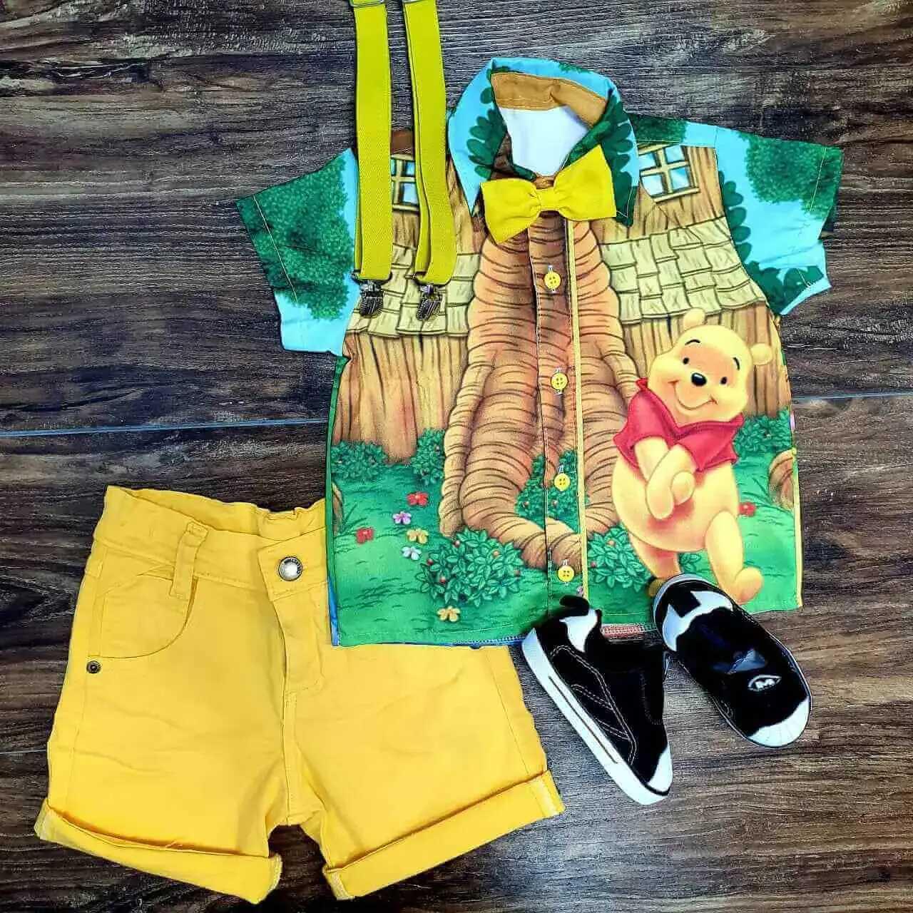 Conjunto Amarelo Ursinho Pooh Infantil