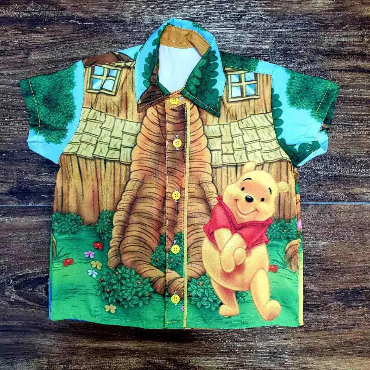 Conjunto Vermelho Ursinho Pooh Infantil
