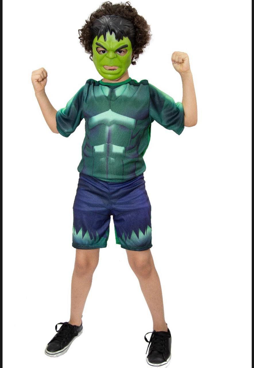 Fantasia Hulk com Máscara