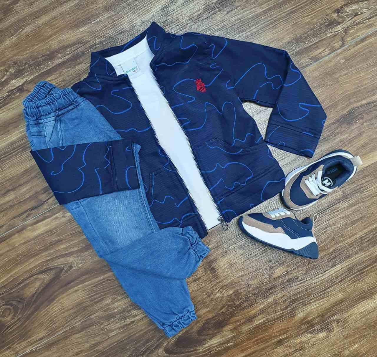 Jaqueta com Camiseta e Calça Jogger Infantil