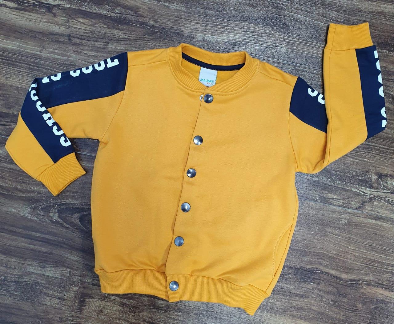 Jaqueta Moletom Amarela Infantil