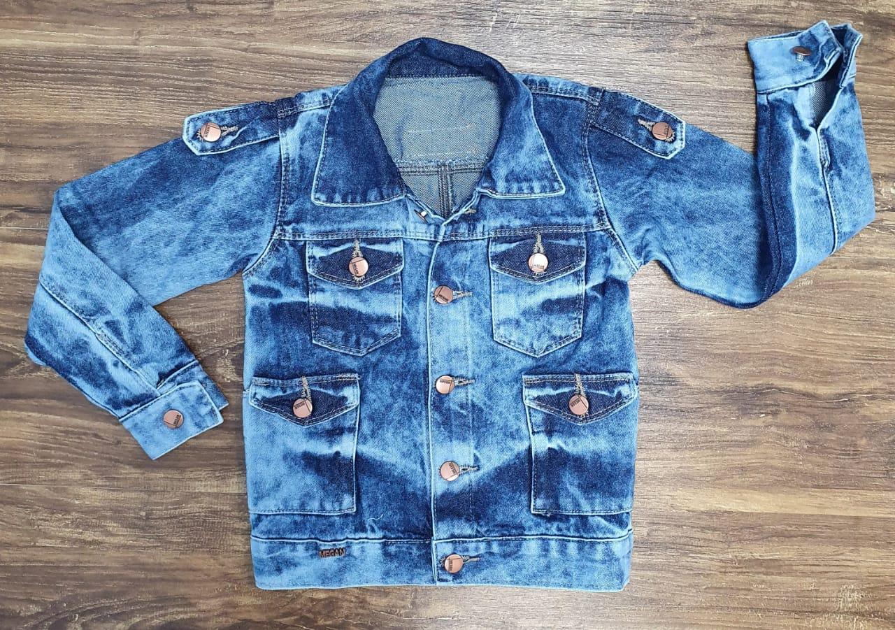 Jaqueta Jeans Bolsos Infantil