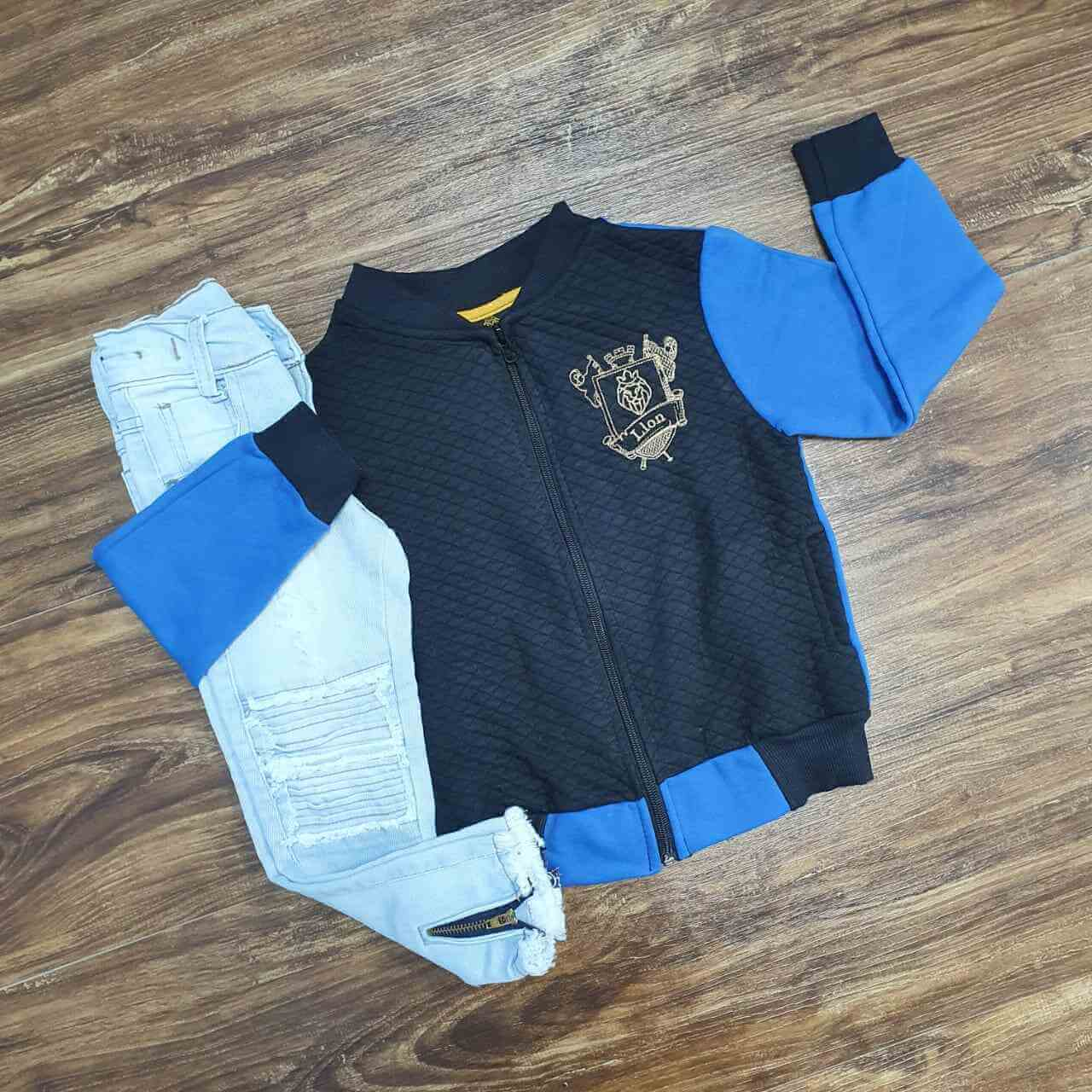 Jaqueta Lion Com Calça Jeans Clara Infantil