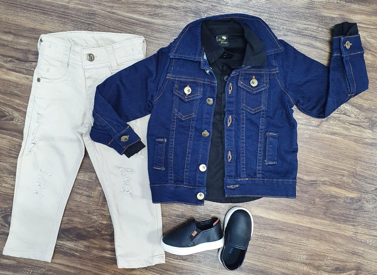 Jaqueta mais Camisa com Calça Infantil