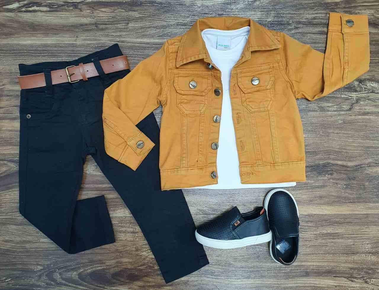 Jaqueta mais Camiseta com Calça Infantil