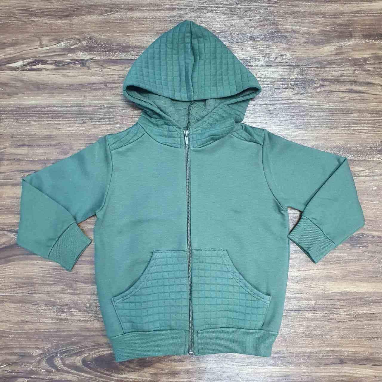 Jaqueta Moletom Verde Infantil